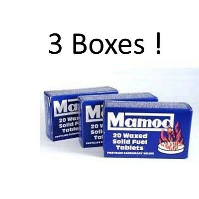 Mamod Steam Engine Waxed Solid Fuel Tablets - 3 BOXES - (60 Tablets In Total)  • 18.95£