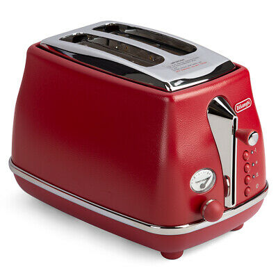 AU69 • Buy NEW DeLonghi Icona Elements Two Slice Toaster CTOE2003 Red