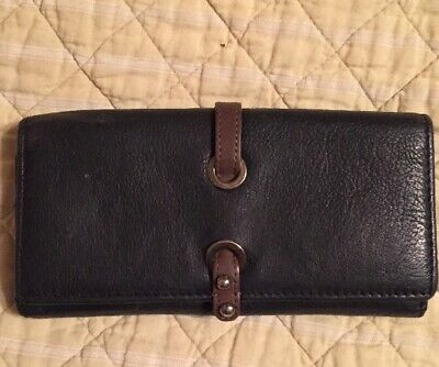 Jane Shilton Black Leather Large Purse/ Wallet Vgc • 5.99£