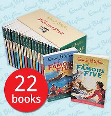The Famous Five Collection 22 Books Box Set By Enid Blyton - Brand New & Sealed • 49.95£