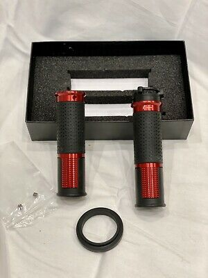 $135 • Buy RIZOMA Ducati LUX BILLET ALUMINUM RED GRIPS - GRDW213ZTH01R 22mm Ride By Wire