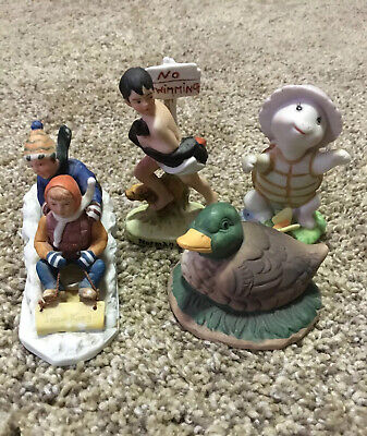$ CDN19.62 • Buy Lot Of 4 Small Art Sculpture Figurines- Norman Rockwell, Turtle, Duck, Christmas