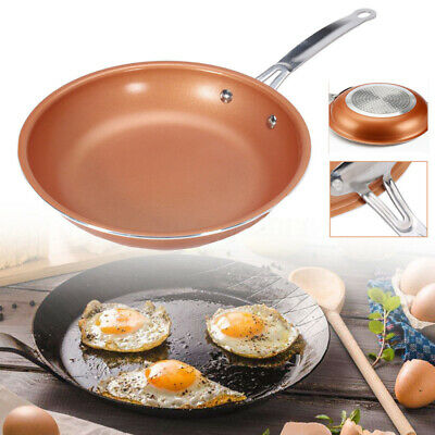 $15.99 • Buy Non-stick Copper Frying Pan With Ceramic Coating And Induction Cooking