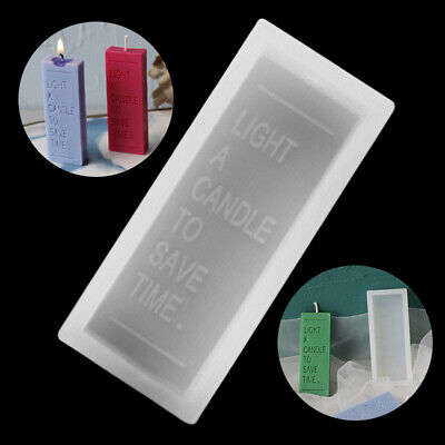 Rectangle Letter Silicone Soap Mold Cake Candle Mould Wax Resin Casting Craft UK • 4.28£