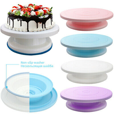 28cm Rotating Cake Icing Deocrating Revolving Kitchen Display Stand Turntable • 7.39£