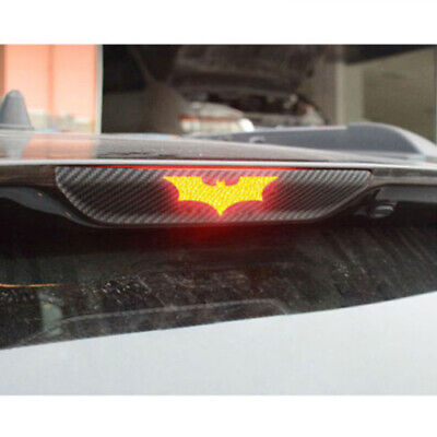 AU9.64 • Buy 3sizes 3D Batman Carbon Fiber Sticker Brake Tail Light Decal DIY Car Accessories