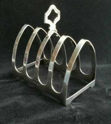 Cute 1957 Viners Sheffield UK Hallmarked Solid Sterling Silver Toast Rack • 64.95£