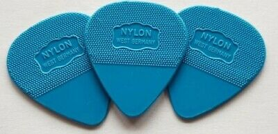 $ CDN9.40 • Buy 3 X Genuine Herdim Guitar Picks - Plectrum Nylon Blue U2 The Edge - Brand New