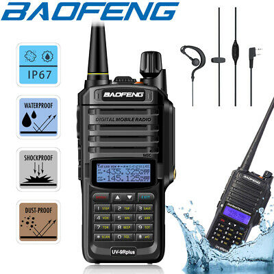 Baofeng UV-9R Plus IP67 Waterproof UHF/VHF Dual Band Walkie Talkie Two Way Radio • 27.99£