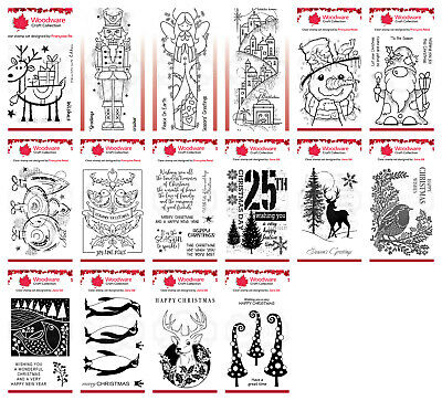 Woodware Clear Singles Stamp - Christmas 2020 - Multibuy Available - CHOOSE • 5.95£