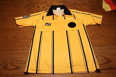$17.99 • Buy United States Soccer Federation Yellow  Black Pinstripe Referee Jersey  SMALL