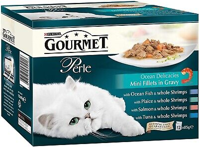 Purina Gourmet Perle Ocean Delicacies Fish Collection 48 X 85G Pouches • 36£
