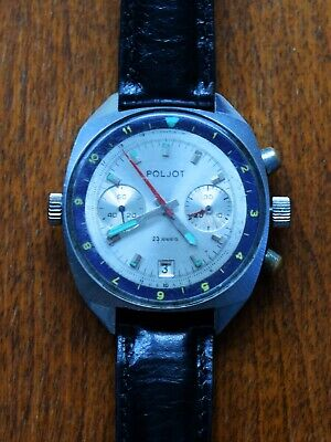 $ CDN204.11 • Buy Poljot Chronograph Vintage Pilot Watch 3133 Runs