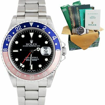 $ CDN14255.80 • Buy 2002 Rolex GMT-Master II 40mm Stainless Steel PEPSI Red Blue SEL Watch 16710 B+P