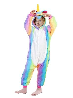 AU34.90 • Buy Unicorn Onesie For Kids Adults Pyjamas Kigurumi Girl Boy One-piece Jump-suit