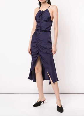 AU70 • Buy Bnwt Alice Mccall Indigo Blue Moon Midi Dress - Size 4 Au/0 Us (rrp $325)