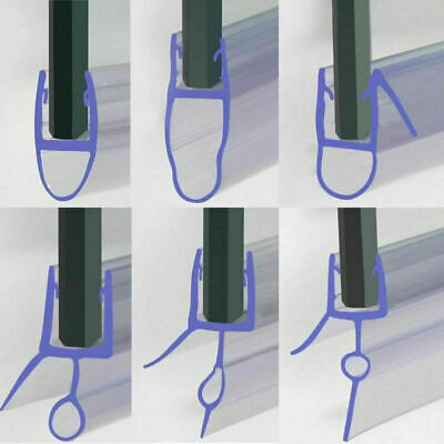 Bath Shower Screen Door Seal Strip For Glass Thickness 4-6mm Seal Gap 10 - 30mm • 6.99£
