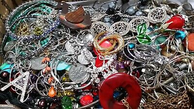 $ CDN20.37 • Buy #5 Vintage To Now Estate Find Jewelry Lot Junk Drawer Unsearched Untested Wear