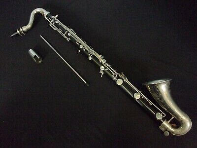 $359.99 • Buy American Made Quality! Selmer Bundy Resonite Bass Clarinet + Mouthpiece + Case