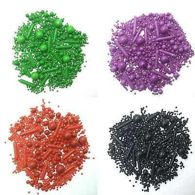 £5.50 • Buy Black Red Green Purple Cupcake Sprinkles Mix Cake Toppers Decorations Birthday