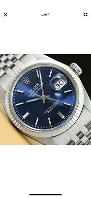 $ CDN3597.90 • Buy Mens Rolex Datejust Blue Dial Sapphire 18k White Gold Stainless Steel Watch