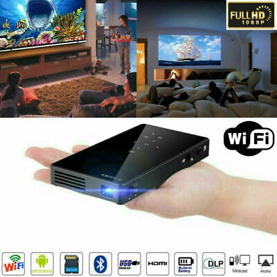 AU277.85 • Buy Mini Portable DLP Android Wifi Bluetooth 1080P HD Home Cinema Projector USB HDMI
