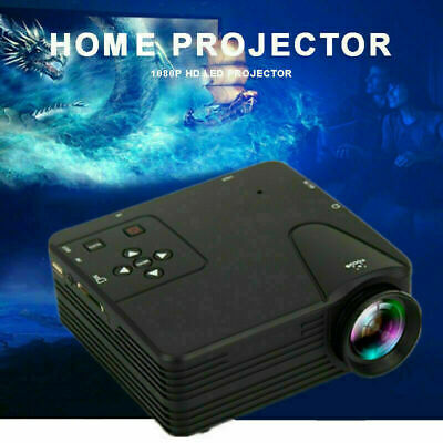 2020 Mini LED HD 1080p Home Cinema Projector LCD Video Home Theater HDMI USB SD • 34.37£