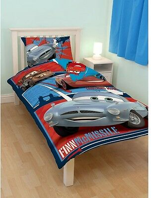 Disney Pixar Cars 2 Reversible Bed Linen 135x200 Mcmissile Mcqueen Spy New Ob • 36.40£