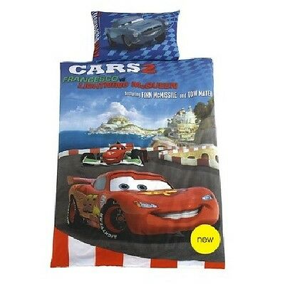 Disney Pixar Cars 2 Bed Cover 135x200 Mcmissile Mcqueen With 3D Effect Glasses • 33.18£
