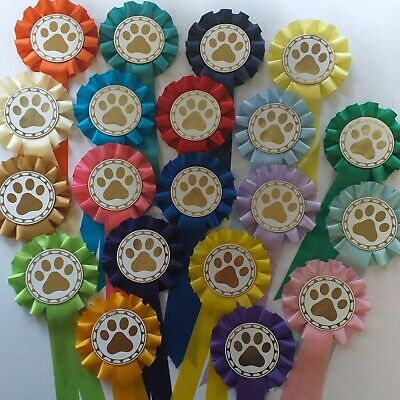 £6.79 • Buy Dog Rosettes Paw Print 1 Tier Dog Show Rosettes 10x Per Pack FREE POSTAGE