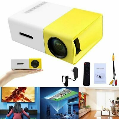 Portable Mini Projector YG300 3D HD LED Home Theater Cinema HD 1080p USB HDMI UK • 32.86£