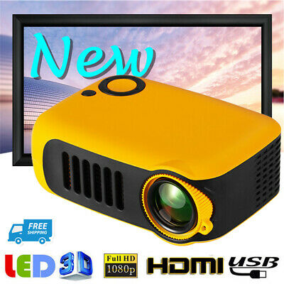 7000 Lumen Portable Pocket LCD Projector 1080P HD Home Theater Cinema HDMI AV TF • 35.63£