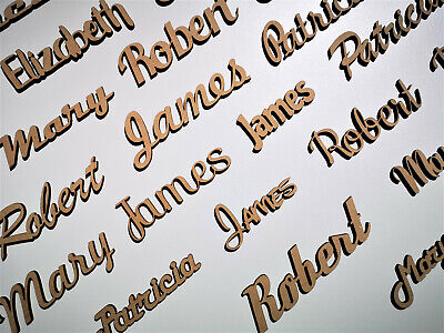 Wooden Letters Bespoke Gift Script Letters Names Words Personalised Signs • 4.44£