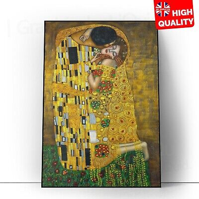 $ CDN25.91 • Buy The Kiss Gustav Klimt Painting Art Poster | A5 A4 A3 A2 A1 |