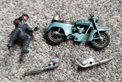 Britains Toys British Police Cop Figure On Motorbike Motorcycle • 3£