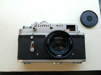 Vintage Zorki 4k Rangefinder Camera With Jupiter 8 2/50 Lens In Original Case • 28£
