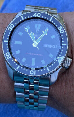 $ CDN1876.10 • Buy Seiko SKX173 Rare Find Divers Black Boy Automatic Watch Authentic Running Strong