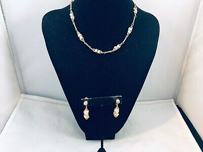 $5.50 • Buy Vtg. Sarah Coventry Demi Twirling Pearls Necklace & Clip On Earrings