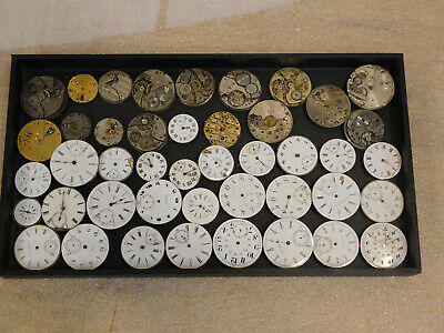 $ CDN399.99 • Buy Lot Of 44 Pocket Watch Movements Antique Parts Repair Steampunk Craft