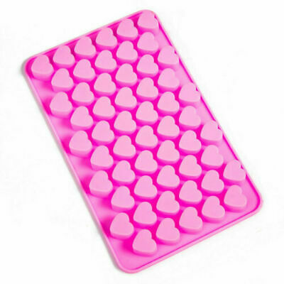55 Pink Mini Hearts Silicone Mould Ice Jelly Mold Chocolate Wax Candle Melts • 9.99£