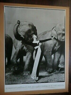 $599.90 • Buy Original Hand Signed Richard Avedon - Dovima With Elephant Paris 1955