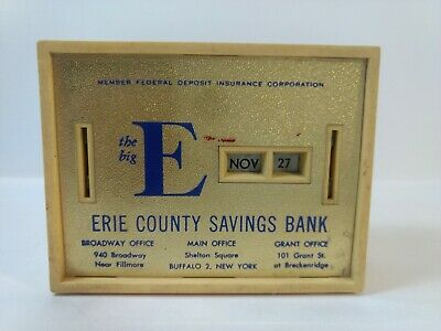 Vintage The Big E Erie County Savings Calendar Coin Bank Hd2193 • 8.28£