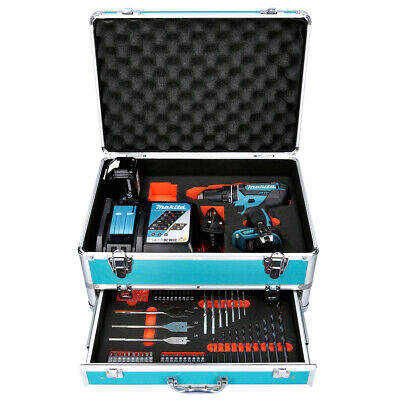 Makita DHP482 18V LXT Combi Drill + 1 X 4Ah Battery & Charger With 70pc Acc. Set • 175£