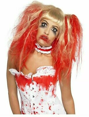 Womens Girls Halloween Wigs Zombie Day Of The Dead Witch SAW Evil De Vil Horror • 15.99£