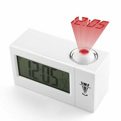 Digital Projection LED LCD Voice Talking Alarm Clock Times Temperature Projector • 5.99£