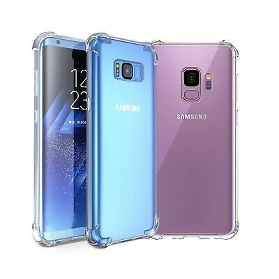 $ CDN5.10 • Buy Samsung Galaxy S8 S9 Clear Transparent Silicone Gel Shockproof Bumper Case Cover