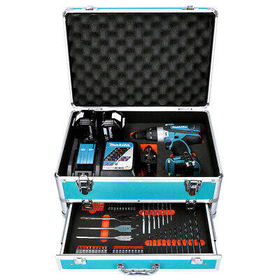 Makita DHP458 18V Combi Drill + 2 X 5Ah Batteries & Charger With 70pc Acc. Set • 298£