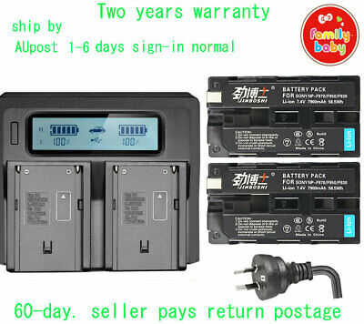 AU100.78 • Buy 2X7.4V 7900mAh NP-F970 Battery + LCD Dual Charger For SONY F930 F950 F770 F750