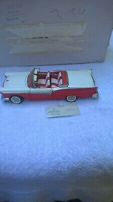 $110 • Buy Franklin Mint 1957 Ford Fairlane 500 Skyliner Diecast 1:24 Scale Retractable Top