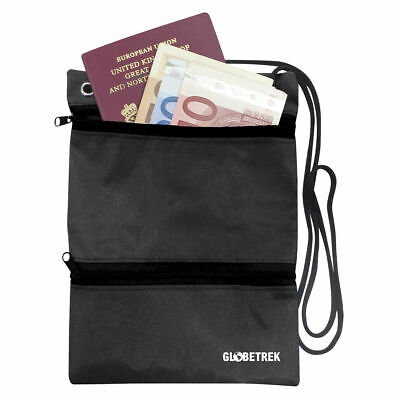 Neck Wallet Travel Documents Secure Safe Carry Pouch Passport Holder Credit Card • 2.89£
